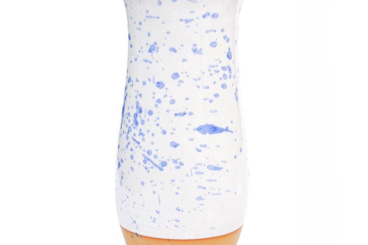 Blue Splatter Ceramic Vase