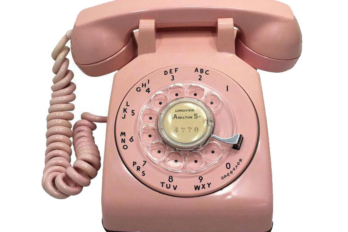 1957 Pink Rotary Dial Telephone