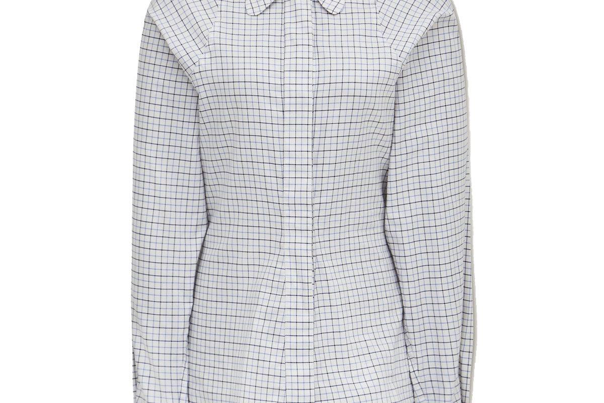 victoria beckham checked cotton shirt