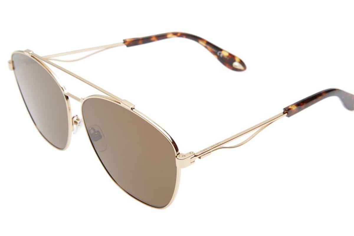 65mm Round Aviator Sunglasses