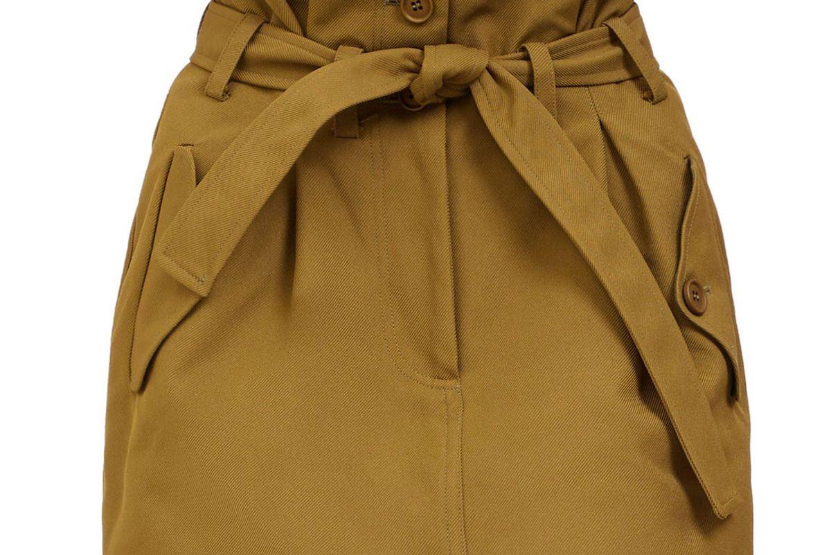 the attico paperbag waist mini skirt