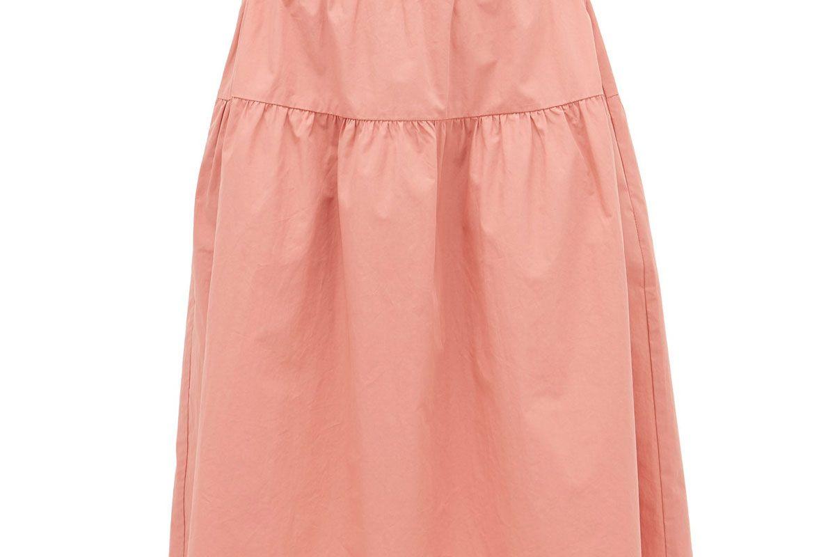 araks ulu paperbag waist cotton poplin skirt