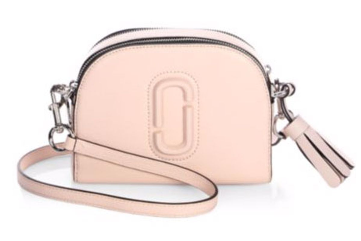 Shutter Leather Crossbody Bag