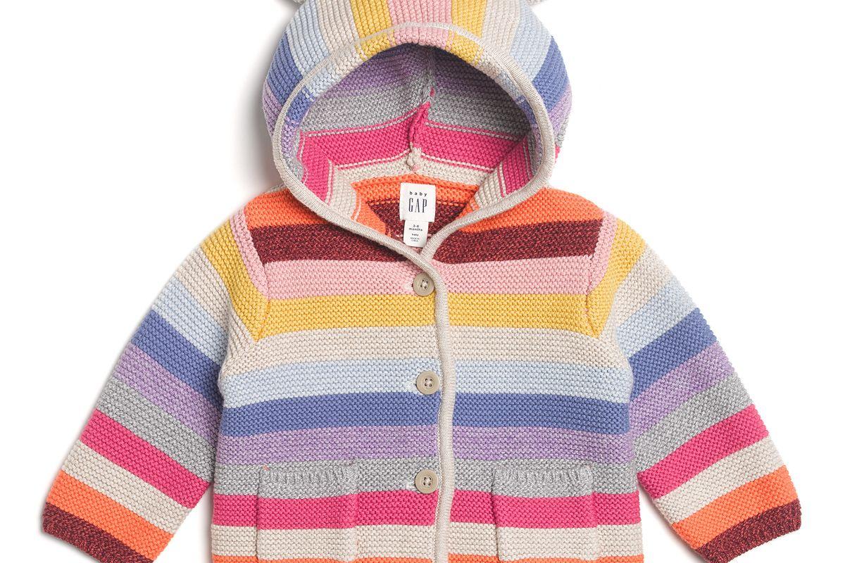 Crazy Stripe Garter Sweater