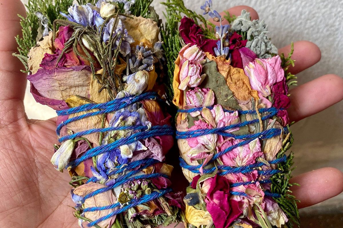 planting with p calming floral sage wands