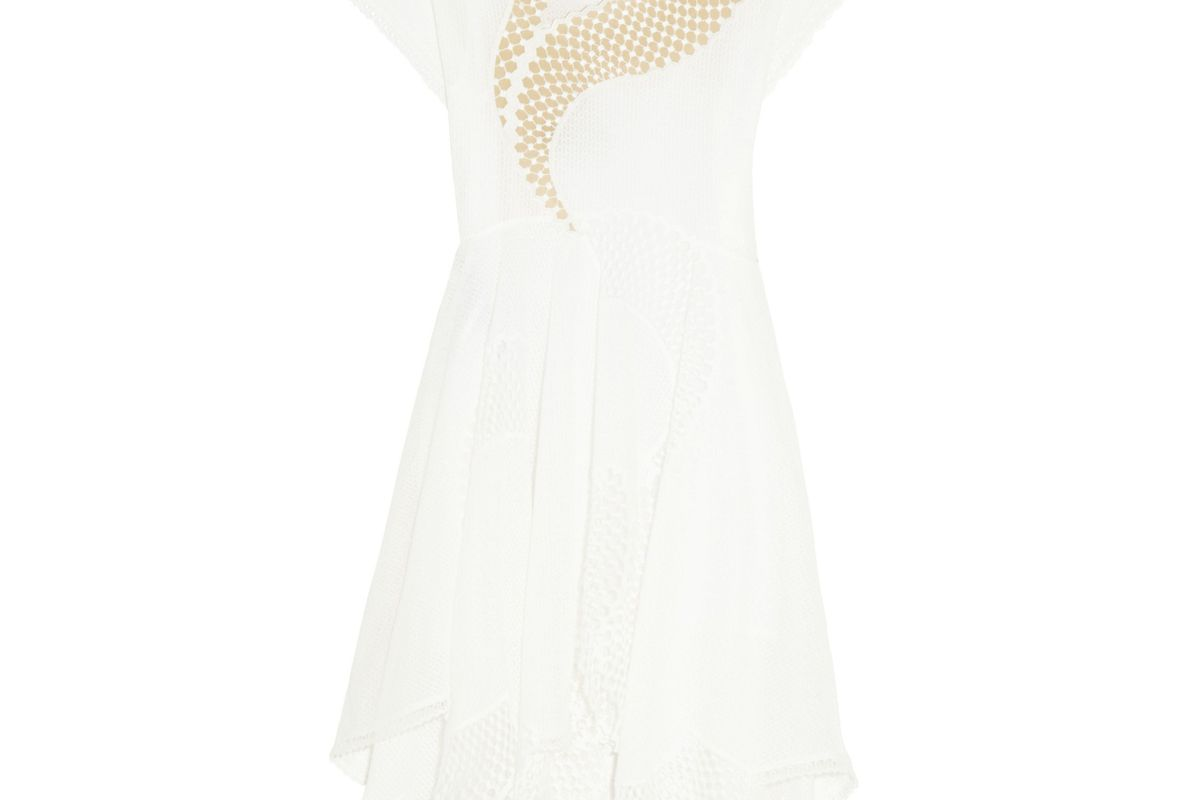 Clotilde Broderie Anglaise Cotton-Blend and Tulle Dress