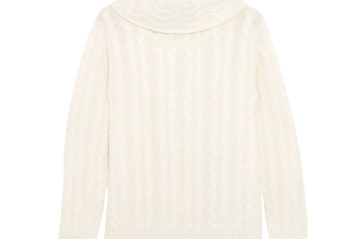 Cable-Knit Cashmere Turtleneck Sweater