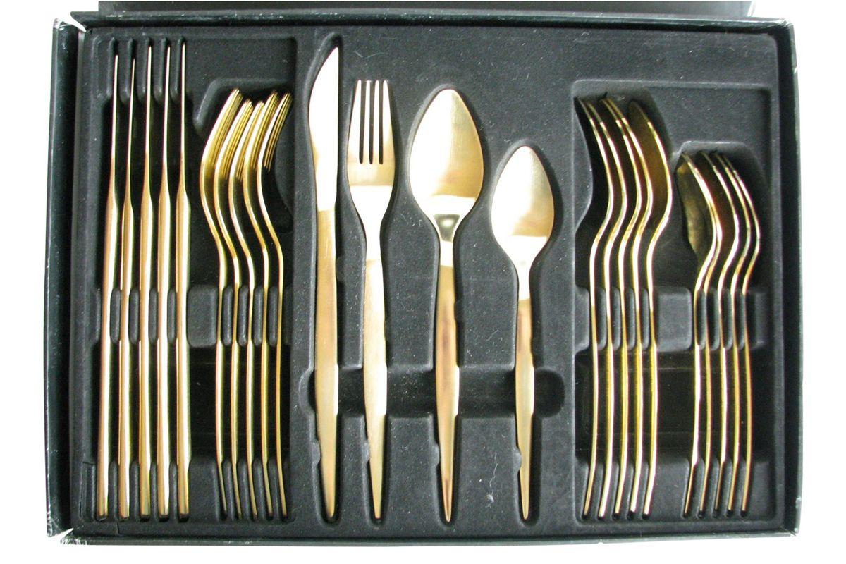 guttlem germany modern gold brushed stainless steel flatware set