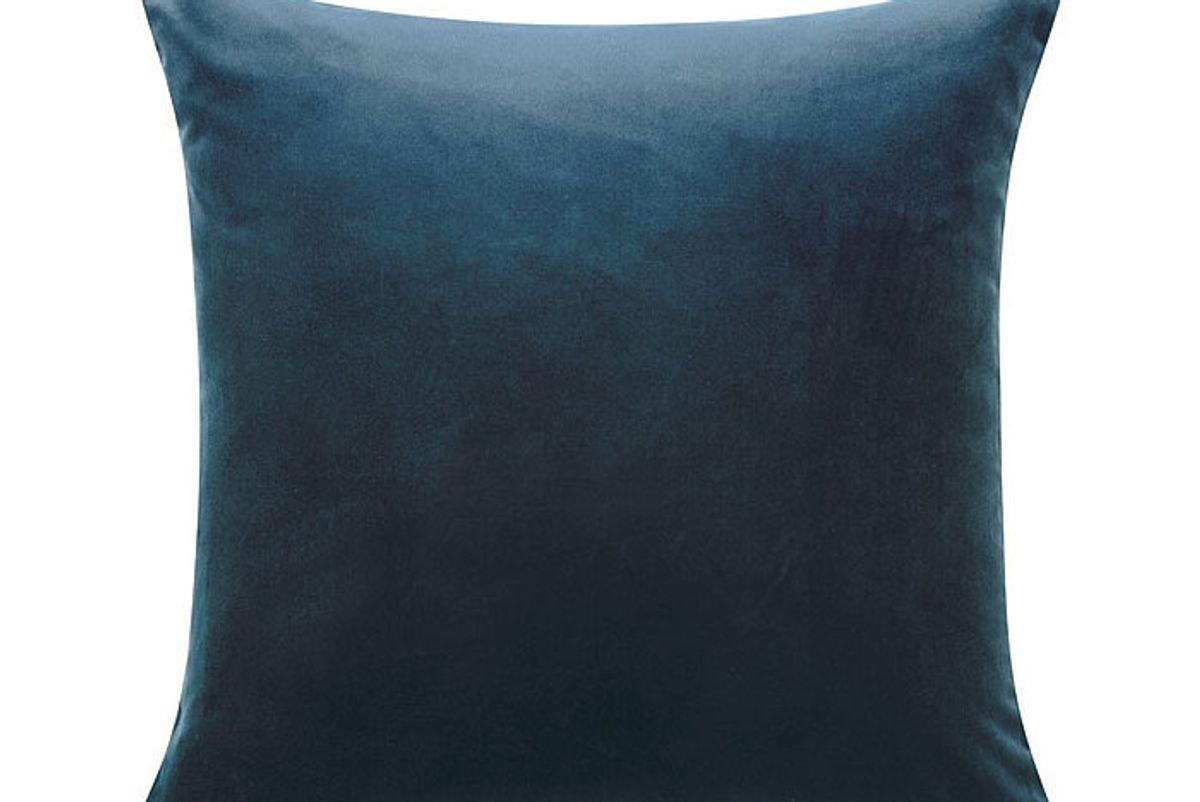 ballard designs signature velvet linen pillow