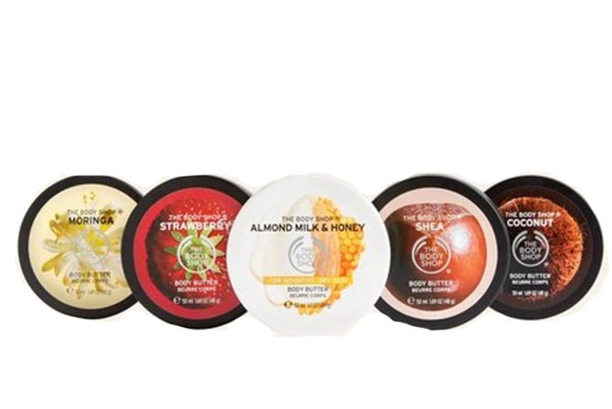 the body shop slather and nourish body butter gift star