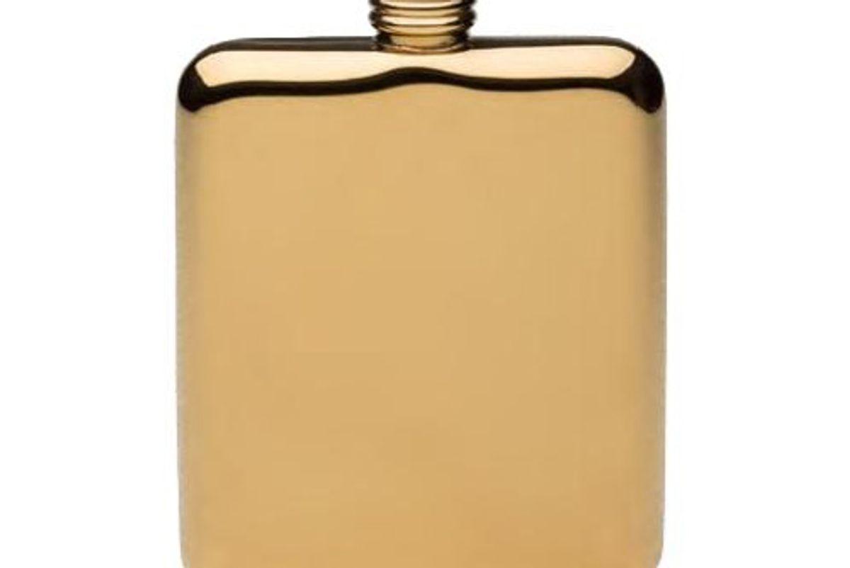 Gold Plated Sleekline Pocket Flask