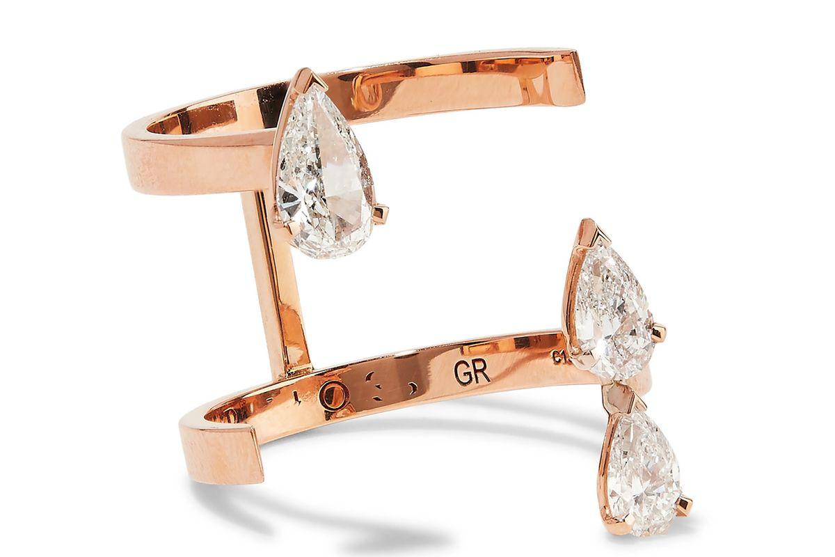 Serti Sur Vide 18-karat rose gold diamond ring