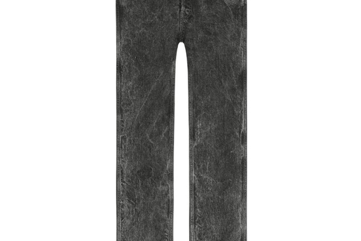 Black Denim Punk Pant
