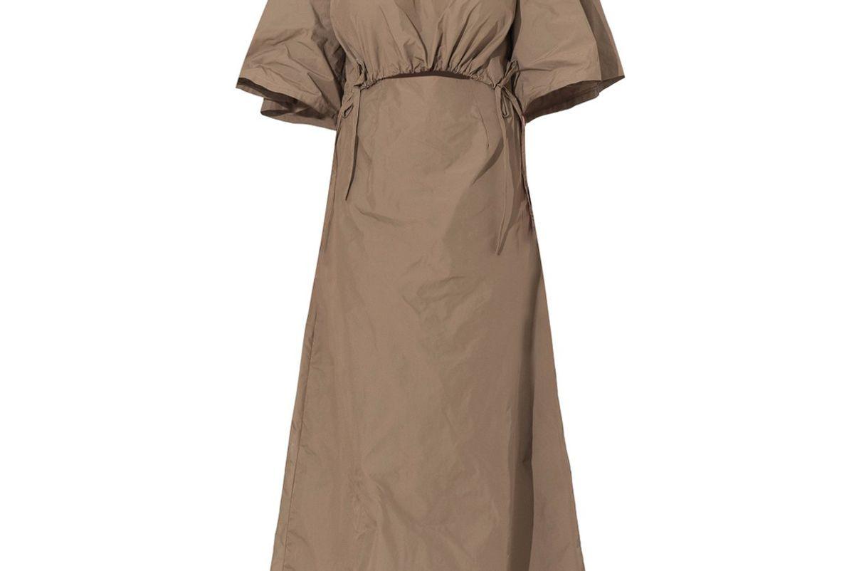 wynn hamlyn scrunch crepe midi dress