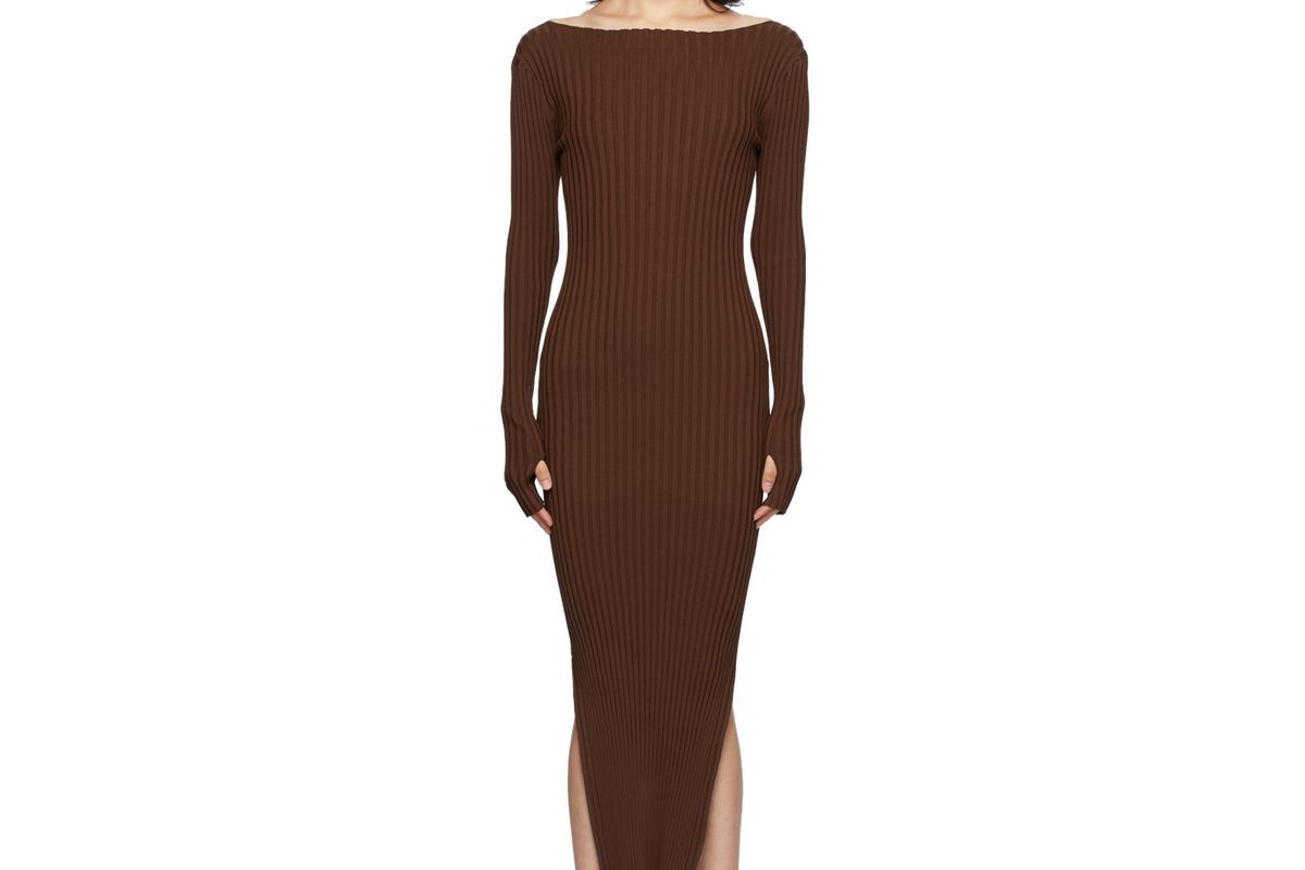 toteme brown orville dress