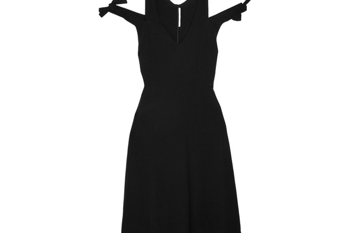 Knotted Cutout Crepe Dress