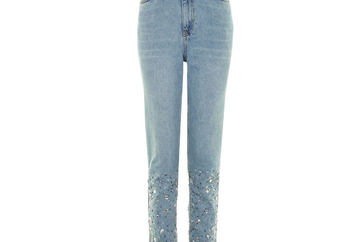 Tall Gem Hem Mom Jeans