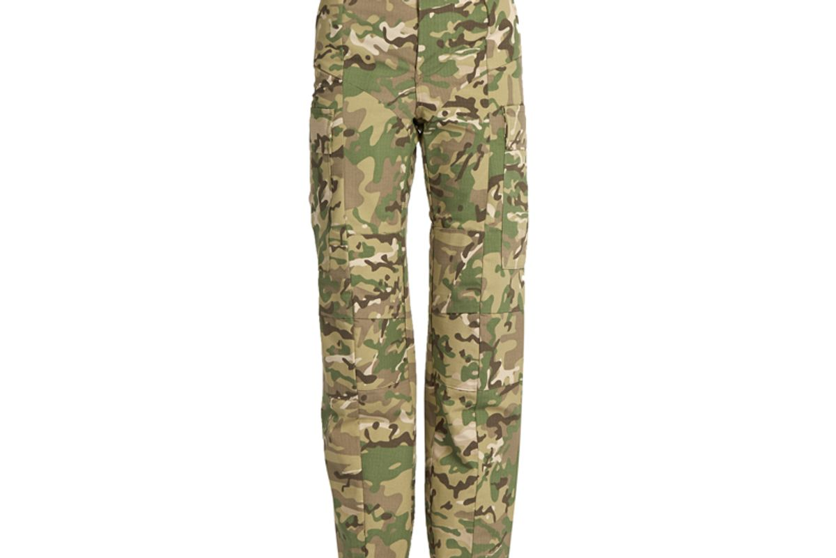Camouflage-Print High-Rise Trousers