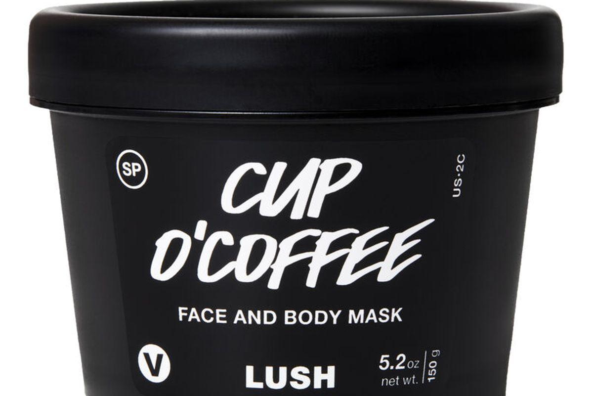 lush cup o coffee face and body scrub