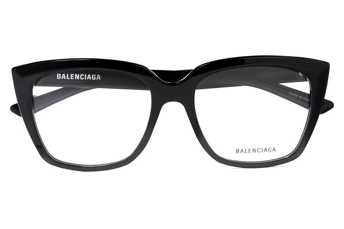 balenciaga tip oversized cat eye acetate optical glasses