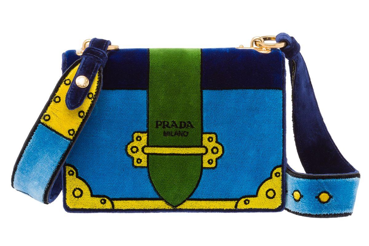 Velvet Cahier Bag in Blue