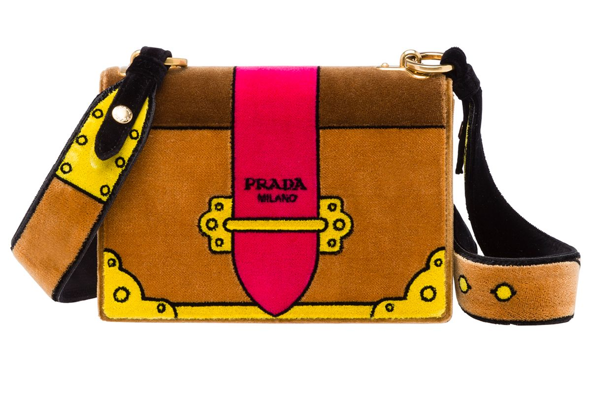 Velvet Cahier Bag in Brown