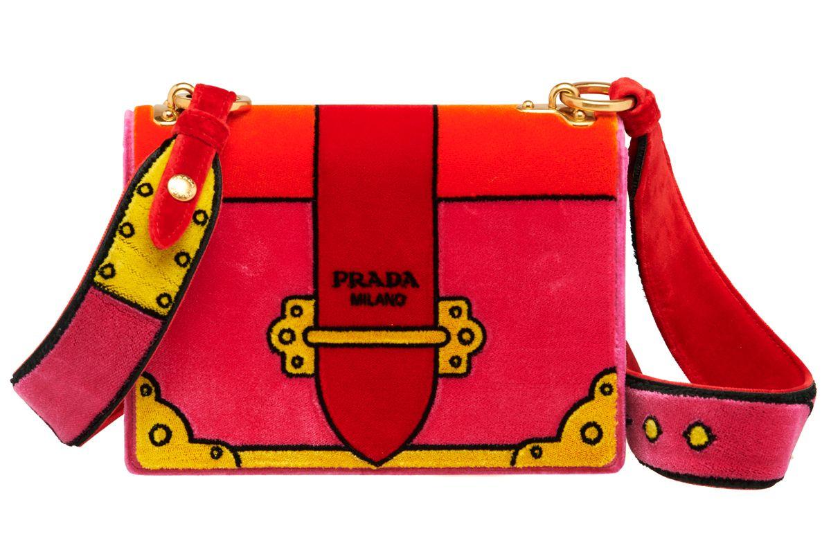 Velvet Cahier Bag in Pink