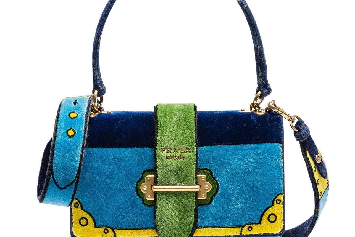 Velluto Ricamo Cahier Bag