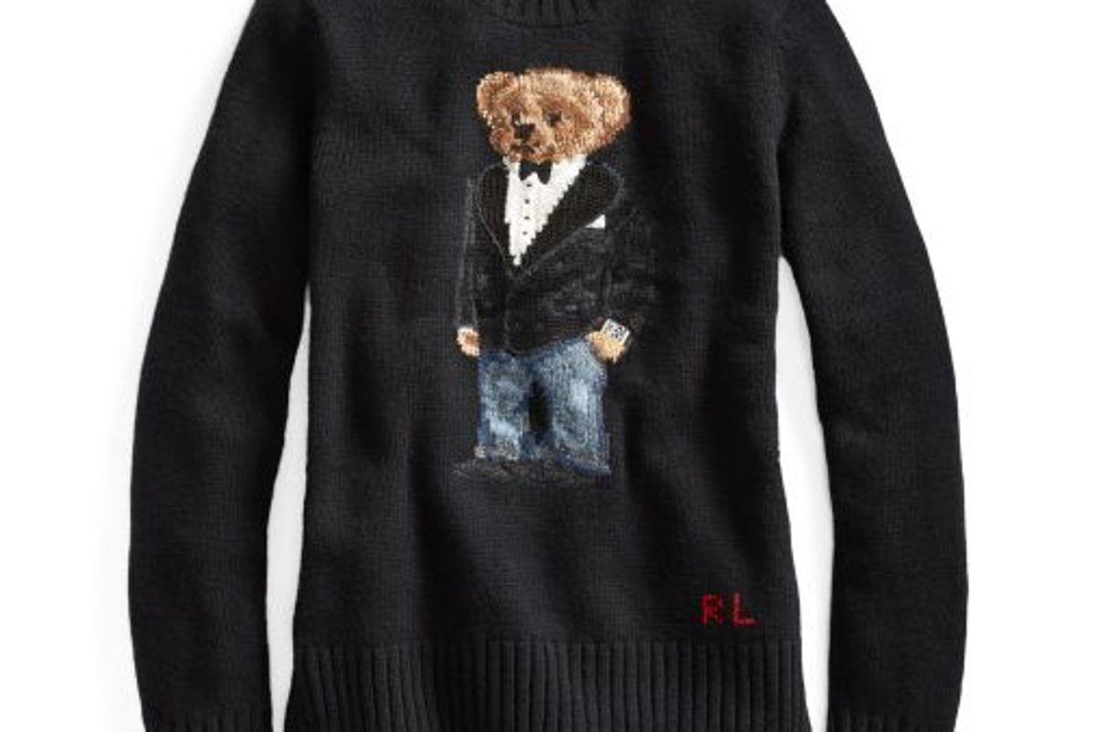 Tuxedo Bear Wool Sweater