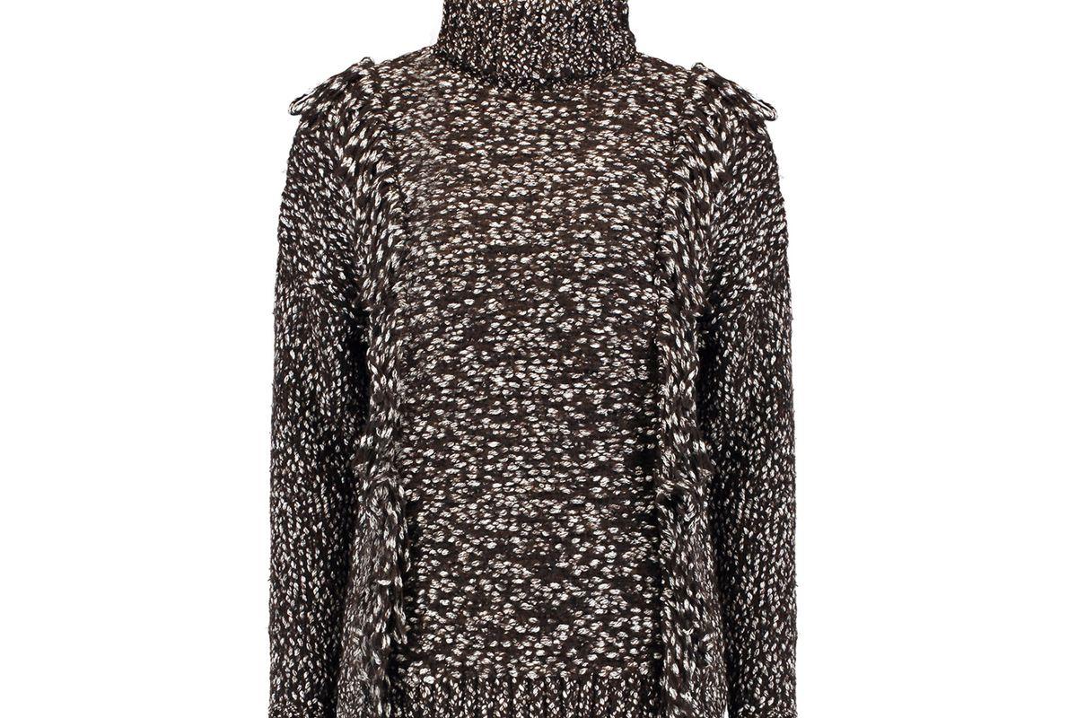 Fernanda cotton and wool-blend turtleneck sweater