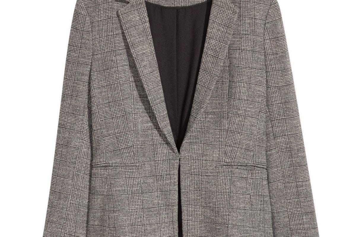 Dark Gray Checked Jacket