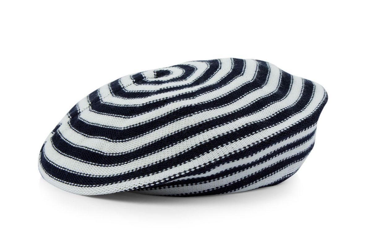 Bi-Colour Wool Stripe Beret