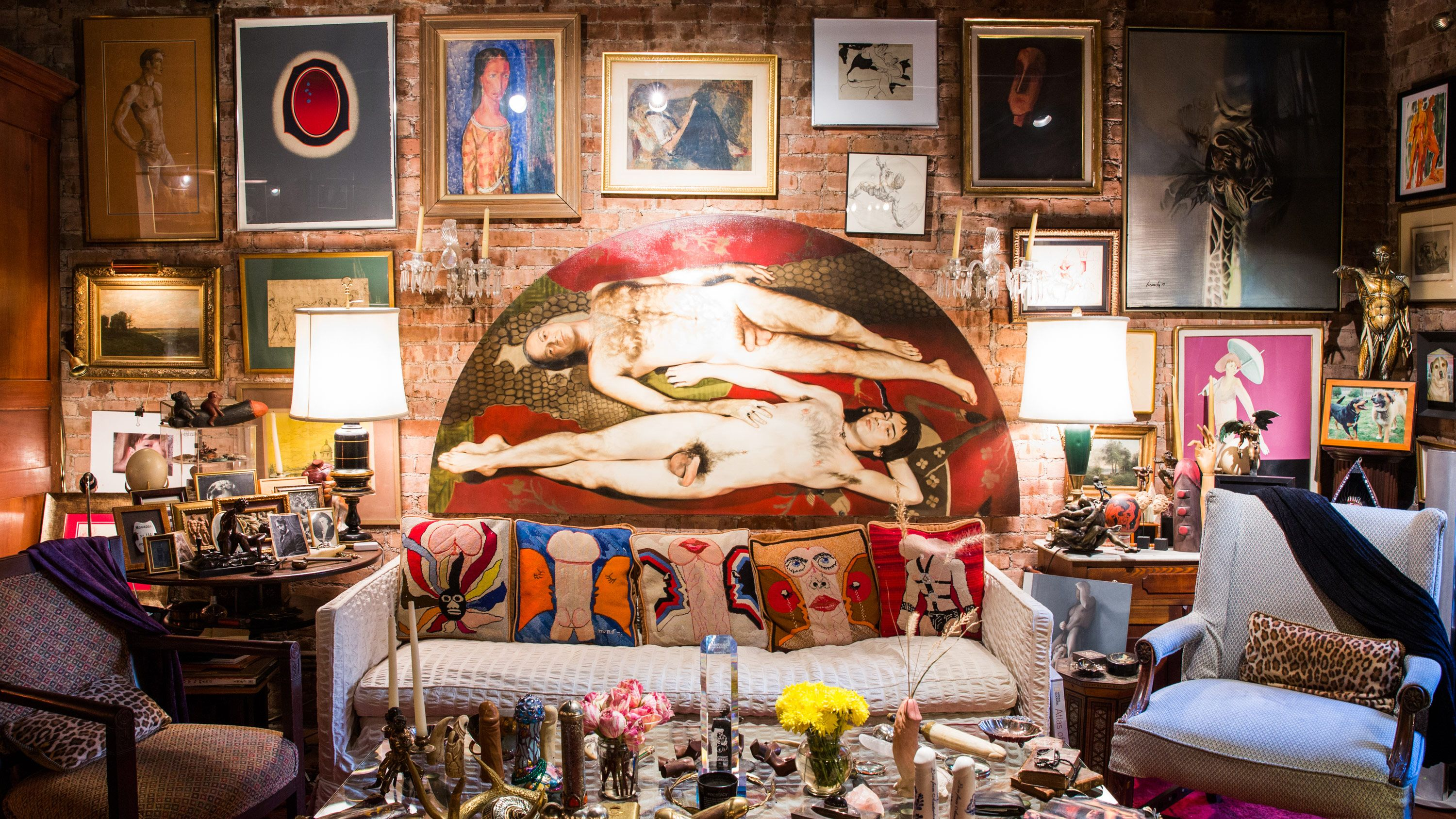 Inside an NYC Apartment with a Most Unusual Art Collection