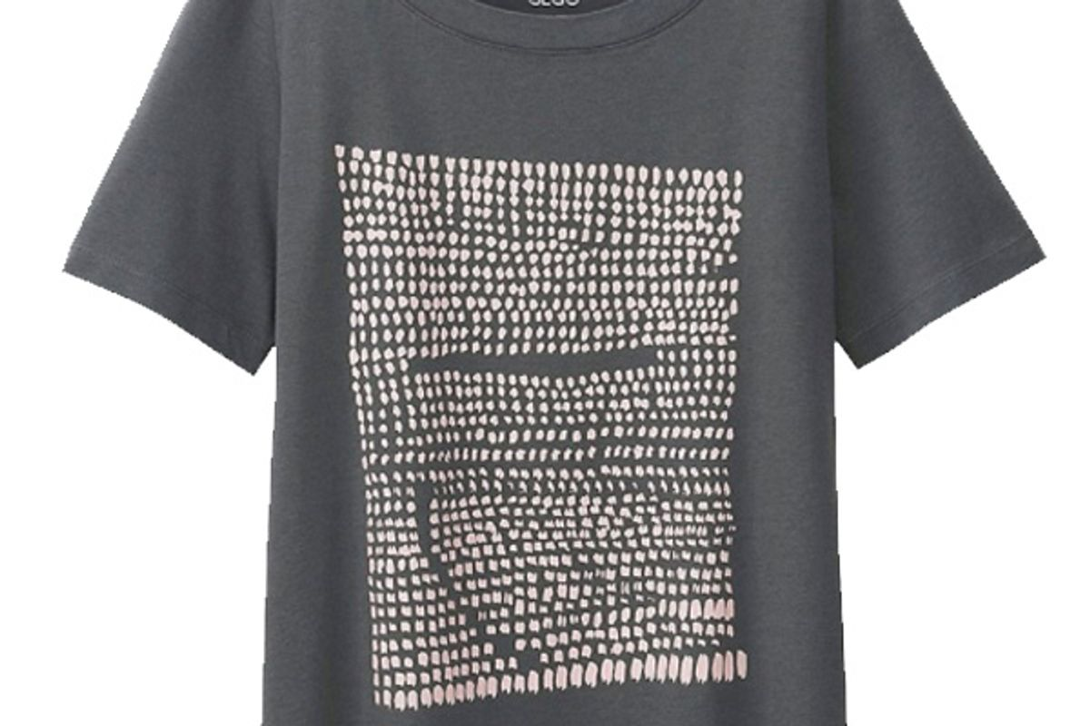 Women SPRZ NY Super Geometric Graphic T-Shirt (Gego) in Gray
