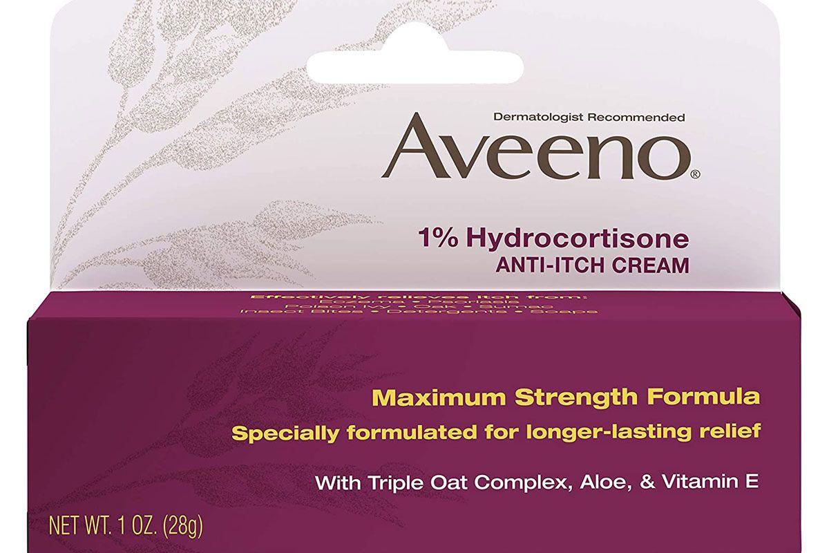 aveeno maximum strength 1 percent hydrocortisone anti itch cream