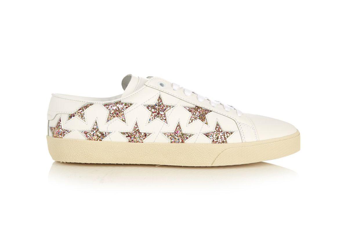 Court Classic star-appliqué leather trainers