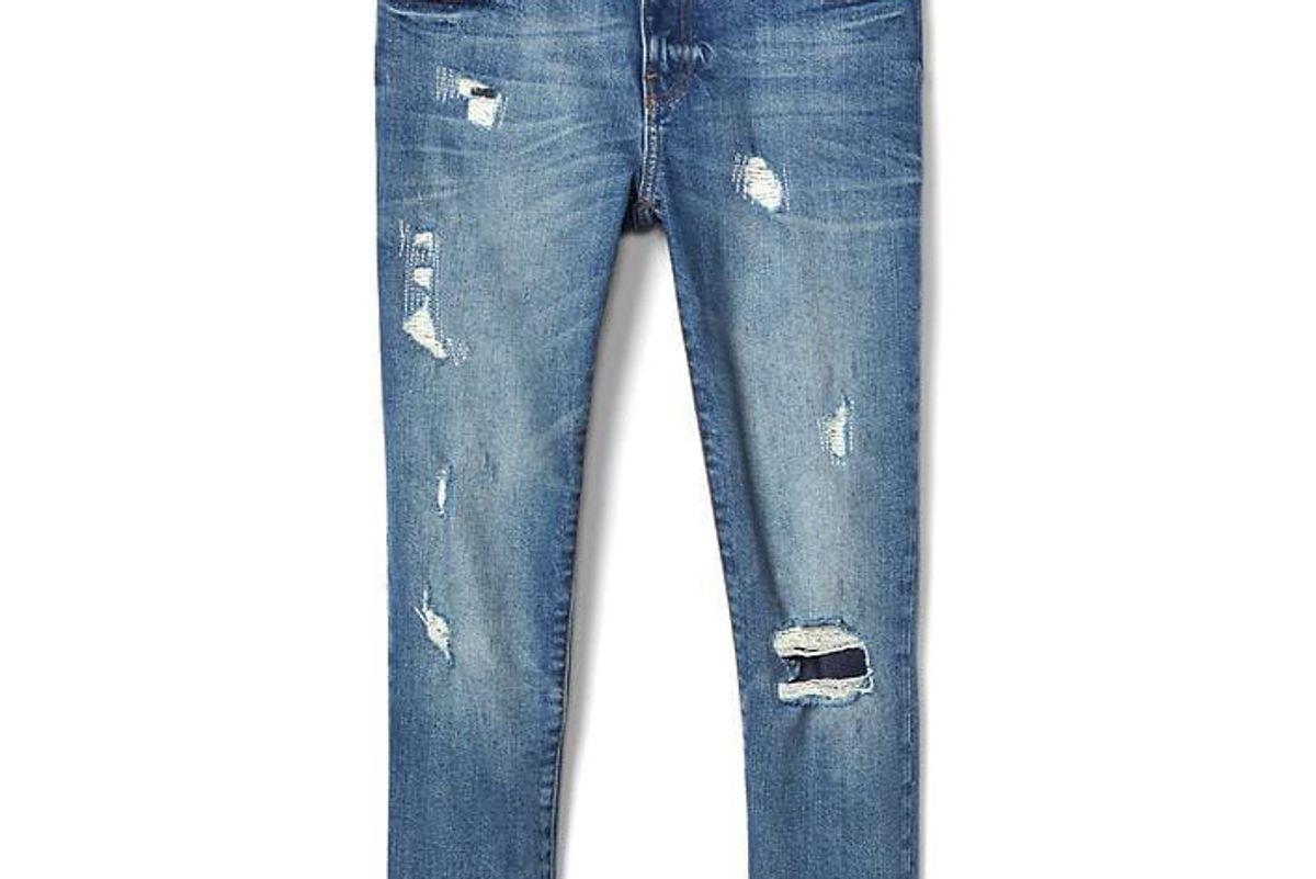 Mid Rise Destructed Best Girlfriend Jeans