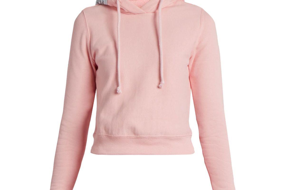 X Champion Hooded Cotton-Blend Sweatshirt