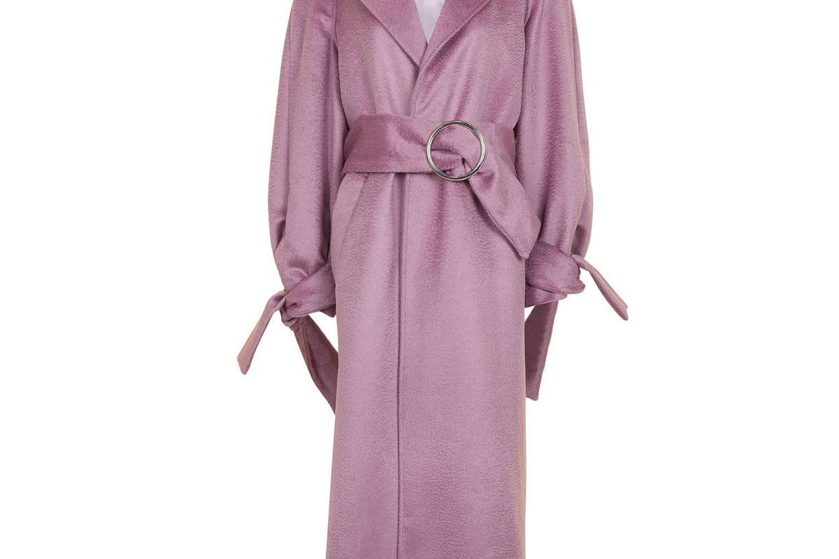 Tie Sleeve Wool Coat by Boutique