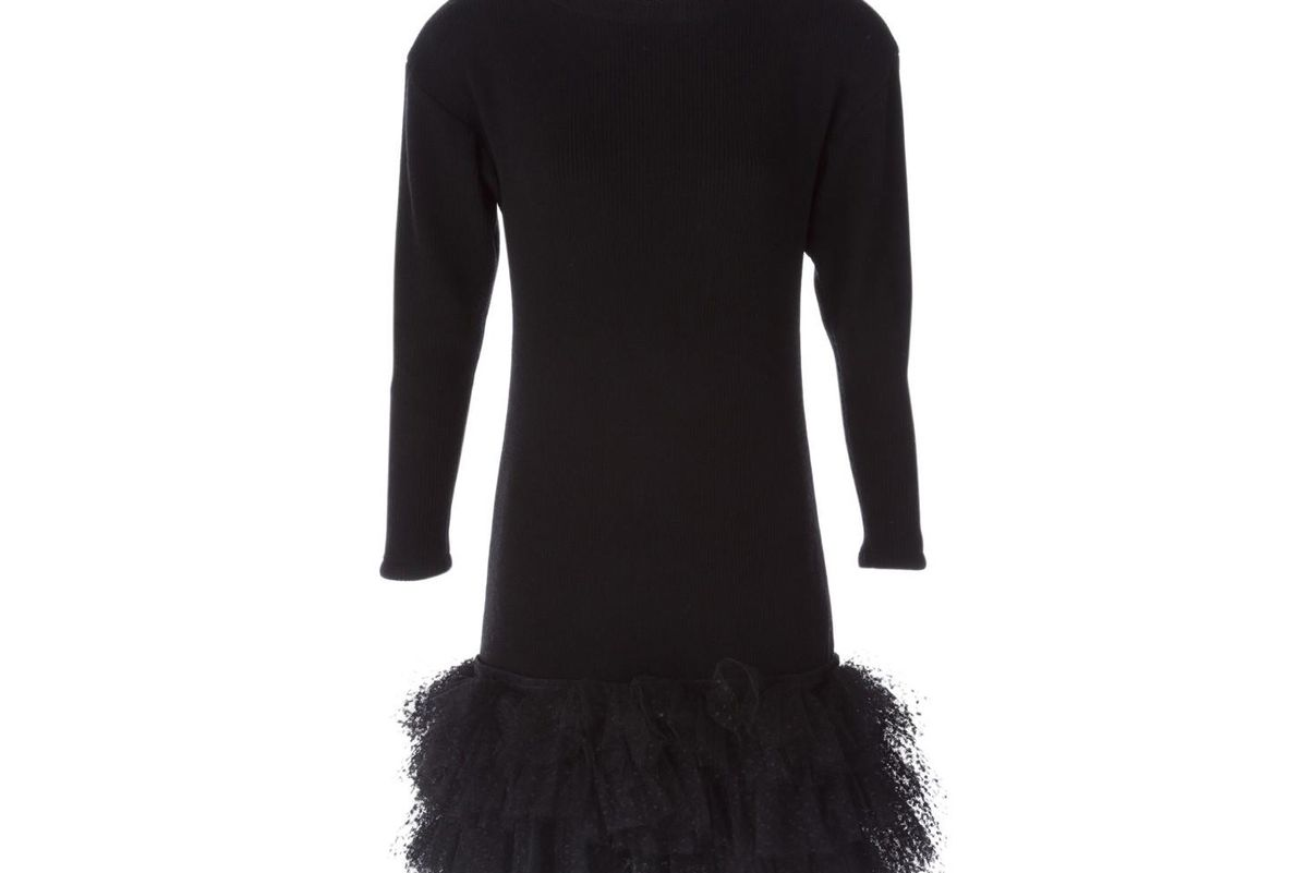 Mid-length wool dress
