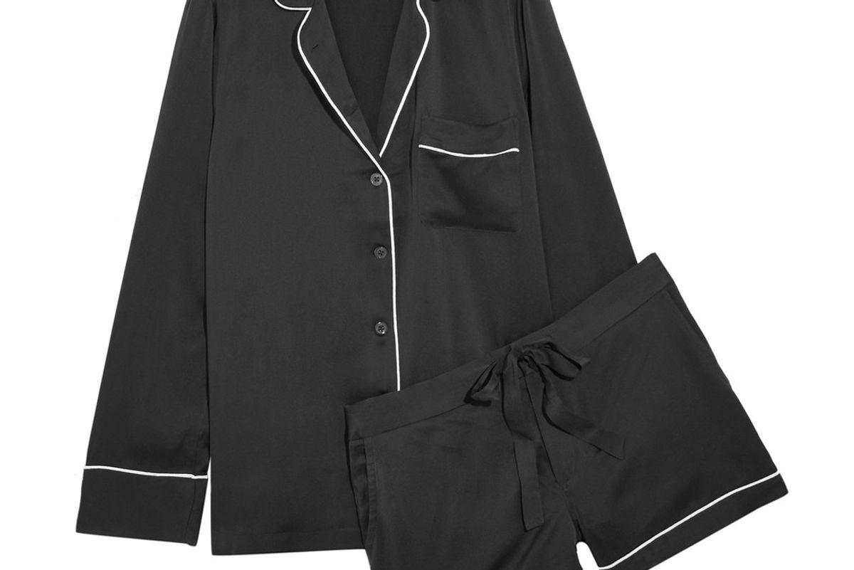 Lillian Washed-Silk Pajama Set