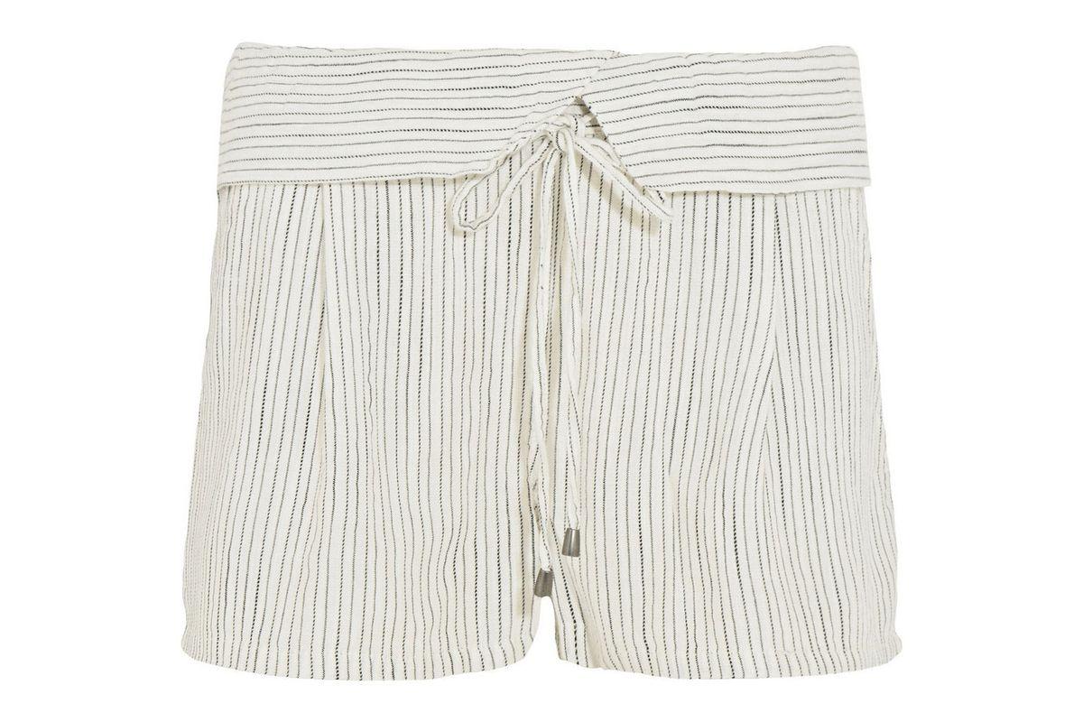 Marina striped woven shorts