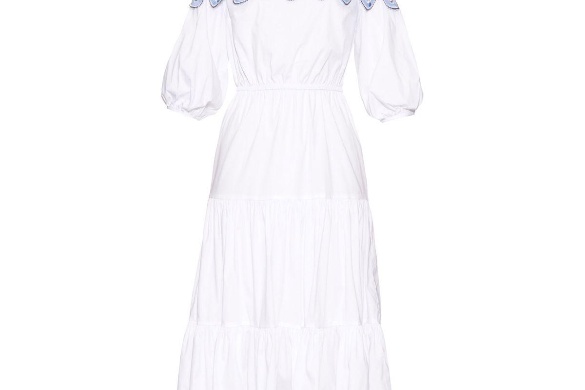 Pallas off-the-shoulder dress