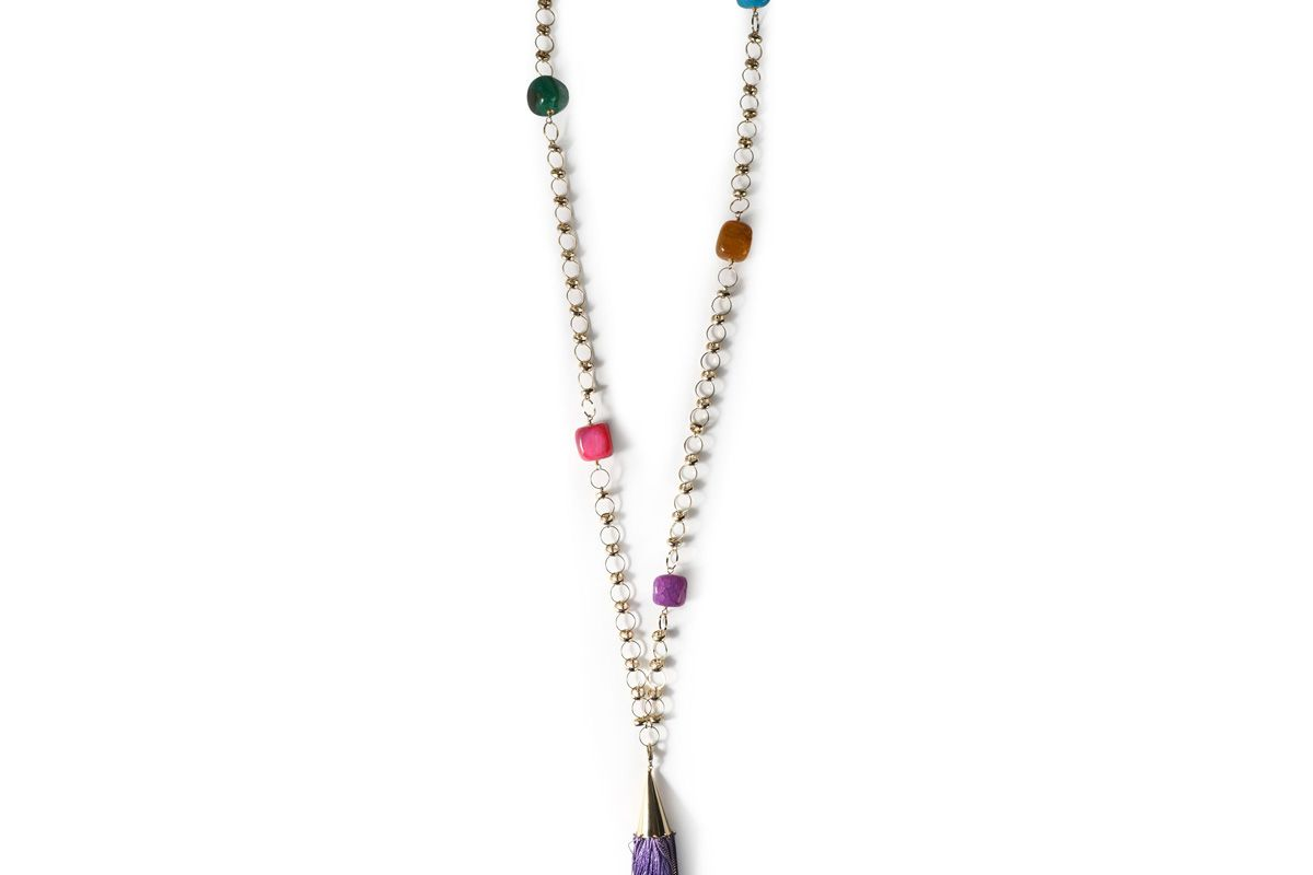 rosantica gold tone tasseled necklace