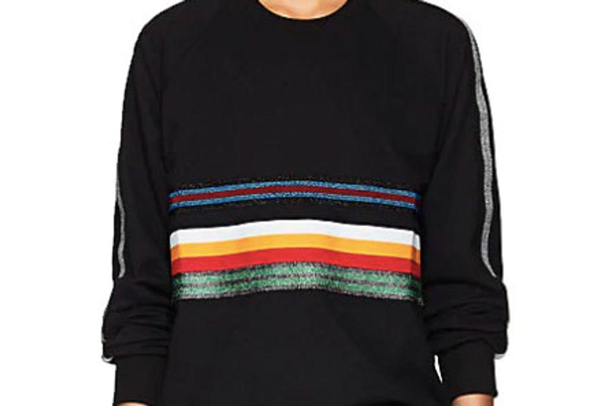 no ka'oi loeloe striped stretch cotton long sleeve top