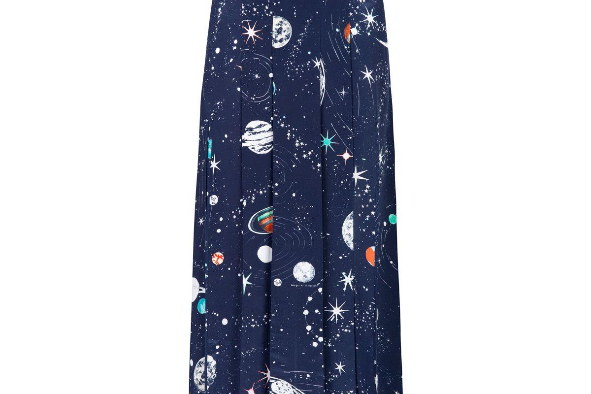 rixo london georgia cosmic constellation midi skirt with slits