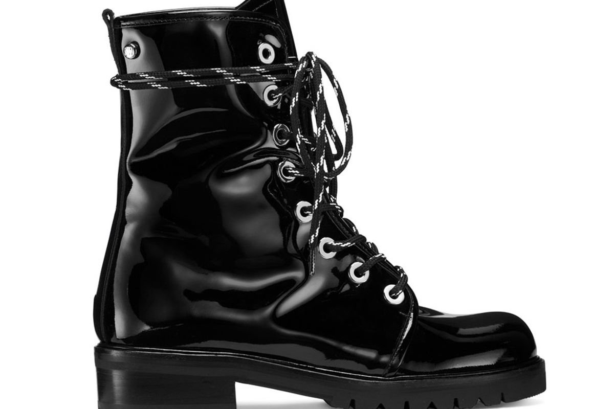 The Metermaid Boot in Black Patent
