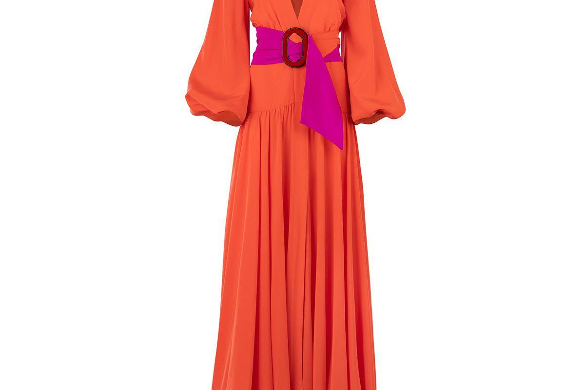 silvia tcherassi felicity belted deep v dress