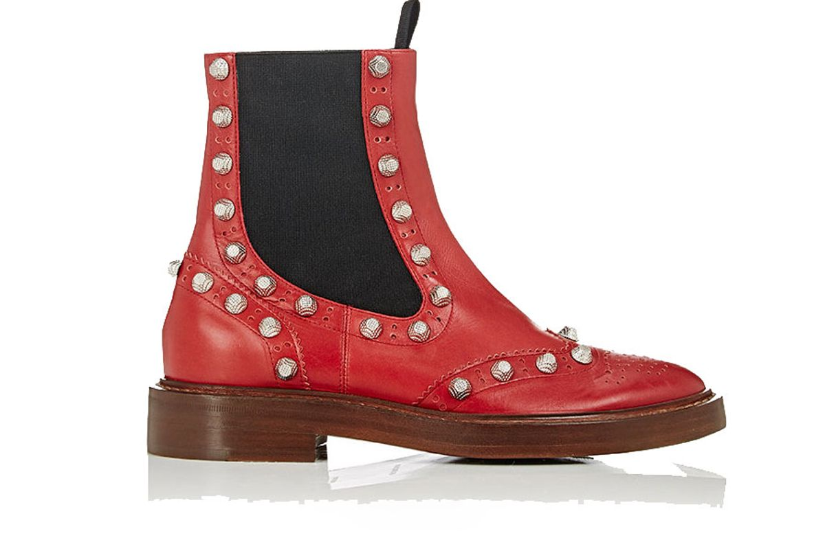 Brogue Leather Ankle Boots