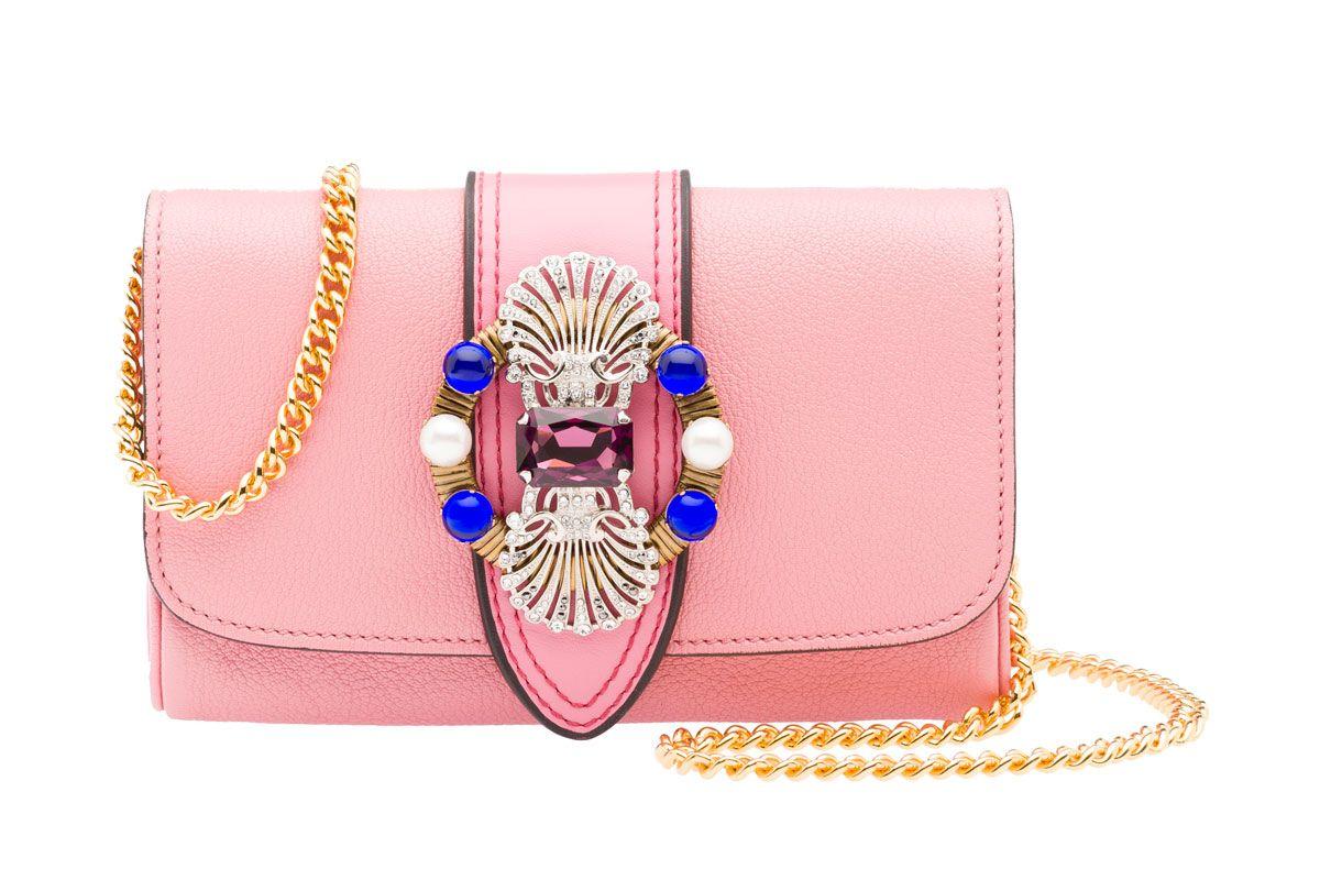 Shoulder Bag Madras Pink